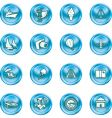 Vacations travel and tourism icons vector