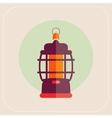 Kerosene lamp icon flat vector