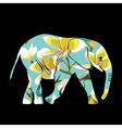 Cartoon elephant the silhouette of the elephant vector