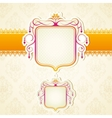 Lace ribbon on retro background vector