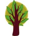 Big cartoon tree isolated vector