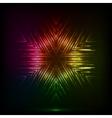 Cosmic shining abstract snowflake vector