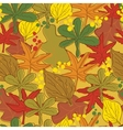 Vintage abstract autumn leaves pattern vector