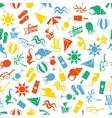Seamless beach pattern vector