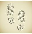 Boots footprints vector