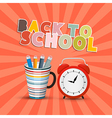 Back to school retro background with paper cut vector