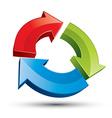 3d loop 3 arrows abstract icon vector