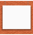 Banner on brick wall vector