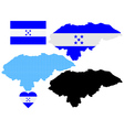 Map of honduras vector