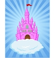 Fairy castle cartoon vector