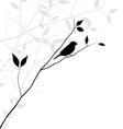 Bird on tree branch vector