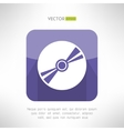 Audio disk icon im modern flat design musical cd vector