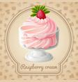 Raspberry cream badge vector