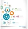 Gears infographics template vector