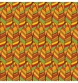 Vintage abstract autumn seamless leaves pattern vector