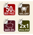 Sale coupons vector