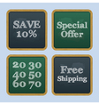 Chalkboard back to school text sale vector