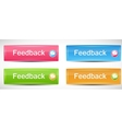 Shiny rectangle menu buttons vector