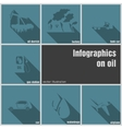 Infographics on oil vector