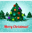 Merry christmas greeting card with cute christmas vector