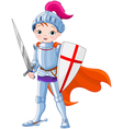 Medieval knight vector