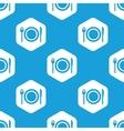 Dishware hexagon pattern vector