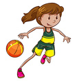 A female basketball player vector