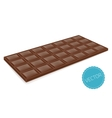 Realistic chocolate bar perspective vector