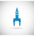 Rocket space ship launch symbol icon design vector
