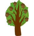 Cartoon oak tree isolated vector