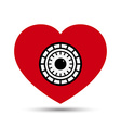 Love heart safe security concept vector