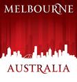 Melbourne australia city skyline silhouette vector