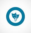 Theater bold blue border circle icon vector