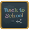 Chalkboard back to school text vector
