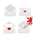 White envelope icon vector