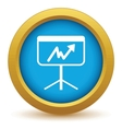New gold unstable graph icon vector