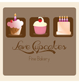 Cake cupcakes icons vector