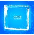Blue grunge frame from textured brush strokes vector