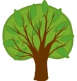 Cartoon deciduous tree isolated vector