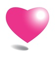 Pink heart on background vector