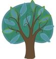 Cartoon deciduous tree isolated vector