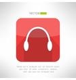 Headphones icon in modern flat design audio music vector