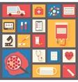 Medical icons set ambulance and blood transfusion vector