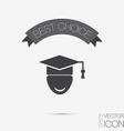 Graduate hat avatar symbol icon college or vector