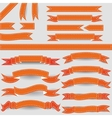 Orange ribbons vector