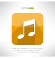 Music note icon in modern flat design radio vector