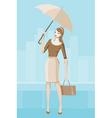 Girl with umbrella vector
