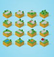 Pre assembly isometric road map vector