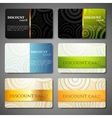 Set of discount cards with circle pattern vector