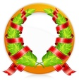 Green wreaths in round vector
